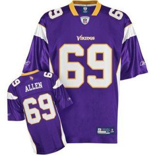 Reebok NFL Equipment Minnesota Vikings #69 Jared Allen Purple Replica Jersey