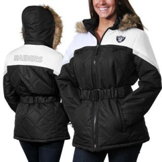 Oakland Raiders Ladies The Looker Full Zip Jacket   Black/White