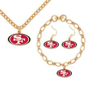 San Francisco 49ers Ladies Gold Tone Jewelry Gift Set