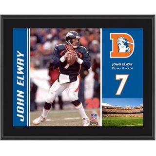 Denver Broncos John Elway 10.5 x 13 Sublimated Plaque