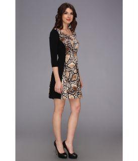Christin Michaels Sophie Snake Print Dress