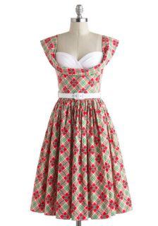 Bernie Dexter Amour and More Dress in Plaid  Mod Retro Vintage Dresses