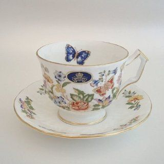 Aynsley Bone China COTTAGE GARDEN Tea Cup & Saucer Set New Teacup With Saucer Kitchen & Dining