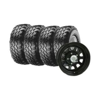Maxxis Buckshot Mudder Radial Tires on Pro Comp Black Xtreme Steel Wheels
