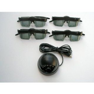 3d Glasses (Four) and Emitter for for Mitsubishi or Samsung DLP TV's, VIP Gamer and Lumagen CRT 3D, etc, Optoma 3D XL 3D box,Viewsonic VP3D1 3d box, Moome EXTV3 Box, Nvidia Quadro Cards, X3D, I/O, ED etc black 3D Gaming dongle etc Electronics