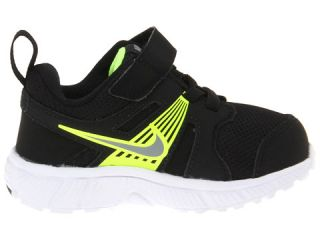 Nike Kids Dart 10 (Infant/Toddler) Black/Volt/White/Metallic Cool Grey