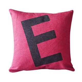 English Letter E Cotton/Linen Decorative Pillow Cover   Throw Pillow Covers