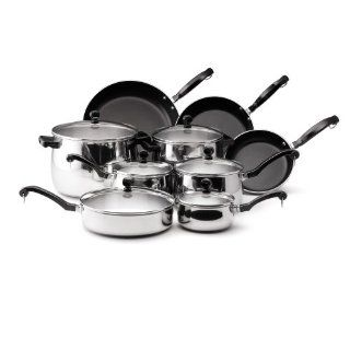 Farbeware Classic Bell Shaped 15 Piece Stainless Steel Cookware Set: Kitchen & Dining