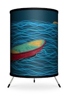 Lamp In A Box TRI FAR KOBL3 Featured Artists KO Giuseppe Kings Own Beach Life Tripod Lamp   Desk Lamps