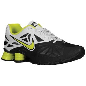 Nike Shox Turbo 14   Mens   Running   Shoes   Black/Light Base Grey/Black/Vemon Green