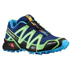 Salomon Speedcross 3 CS   Mens   Running   Shoes   Lake/Fluo Green/Fluo Blue