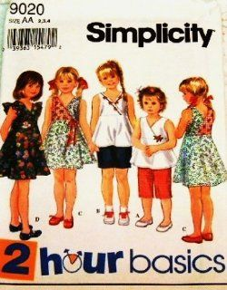 SIMPLICITY 9020 GIRL'S SHORTS, DRESS & TOP (SIZE 2, 3, 4) SEWING PATTERN : Other Products : Everything Else