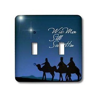 3dRose lsp_30754_2 Wise Men Still Seek Him Magi Following The Christmas Star Double Toggle Switch   Switch Plates
