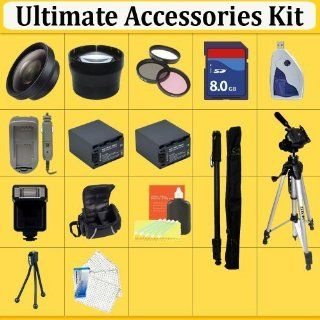 Huge Ultimate Accessory Kit for the Canon T3i & T2i Digital Slr Camera.the Kit Includes Lenses, Filters, 8gb Sd Card, 2 Extended Life Batteries, Carrying Case, Tripod, Flash Plus Much More These Lenses and Filters Will Attach to Any of the Following