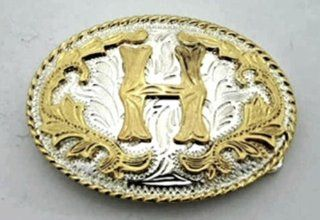 """Initial Letter """"H"""" Belt Buckle.  Other Products"""
