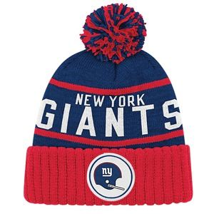 Mitchell & Ness NFL Throwback High Five Cuffed Knit   Mens   Football   Accessories   New York Giants   Royal/Red