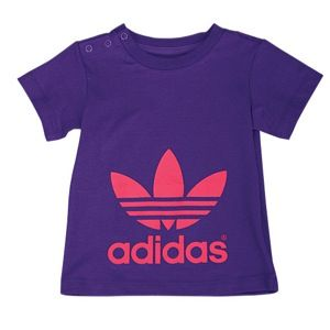 adidas Originals Trefoil S/S T Shirt   Girls Infant   Casual   Clothing   Power Purple/Bright Pink