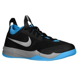 Nike Zoom Crusader   Mens   Basketball   Shoes   Black/Vivid Blue/Metallic Silver