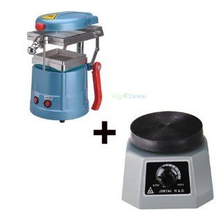 Dental Lab Vacuum Forming Molding Former Machine + Round Vibrator Vibrating NEW Health & Personal Care