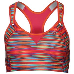 Moving Comfort Rebound Racer High Impact Sports Bra   Womens   Running   Clothing   Rainbow/Pixie Flame