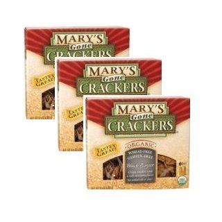 Mary's Gone Crackers, Black Pepper, 6.5 ounce Boxes [3pk] : Packaged Snack Crackers : Grocery & Gourmet Food