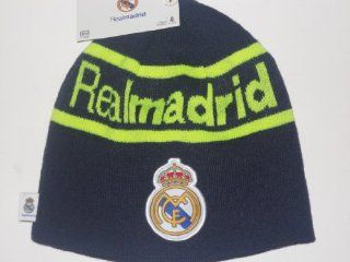 Real madrid Beanie (Navy and Royal Blue) : Sports Fan Beanies : Sports & Outdoors
