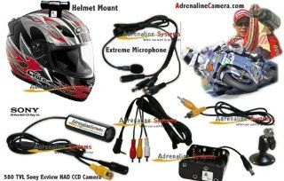 Helmet Camera   Helmet Mounted Action Cam for Extreme Sports and Racing Enviroments. 580 TVL Sony Exview HAD camera. Perfect for Motorcyle Racing, Car Competition, Downhill, Freeride, Sky Diving, Climbing and much more: Electronics