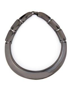 Hematite Collar Necklace   Robert Lee Morris   Hematite