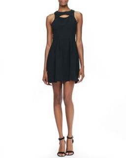 Womens Jewel Neck Cutout Dress   Ali Ro   Black (2)