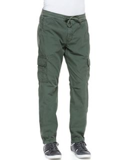 Mens Weekend Cargo Pants, Green   7 For All Mankind   Military green (36)