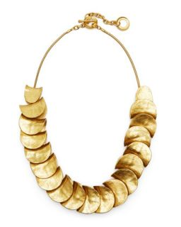 Gold Plated Shingle Necklace   Robert Lee Morris   Gold