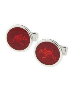 Mens Enamel Tweenie Devil Cuff Links, Red   Alfred Dunhill   Red