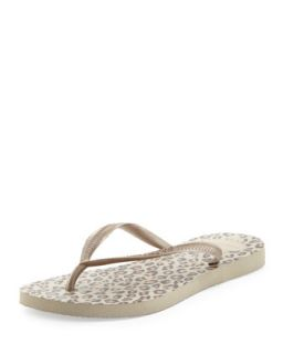 Animal Print Flip Flop, Sandy Gray   Havaianas   Tan (41/42)