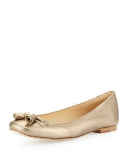 Tulipbow Metallic Ballet Flat, Ale Wash   Stuart Weitzman   Ale wash (8 1/2B)