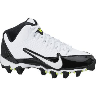 NIKE Boys Alpha Shark 3/4 Football Cleats   Size: 3.5, White/black