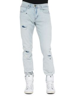 Mens Blake Runaround Slim Ripped Denim Jeans   Hudson Jeans   Light blue (33)