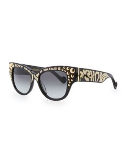 Mademoiselle dOr Sunglasses, Black/Gold   Anna Karin Karlsson   Black