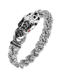 Batu Naga Dragon Black Sapphire Bracelet   John Hardy   Silver