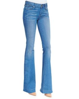 Womens Fiona Harrison Whiskered Flared Denim Jeans   Paige Denim   Harrison