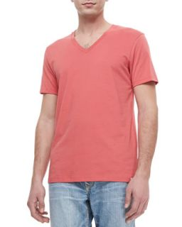 Mens V Neck Jersey Tee, Coral   True Religion   Coral (XX LARGE)