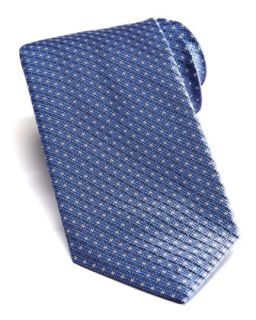 Mens Square Neats Silk Tie   Stefano Ricci   Blue