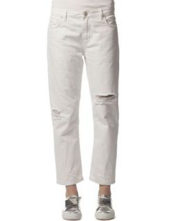 Womens Distressed Ripped Jeans, White   Acne Studios   White (36)