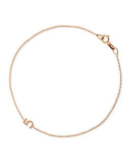 Mini Number Bracelet, Rose Gold   Maya Brenner Designs   Rose gold (4)