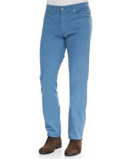 Mens Protege Shaded Blue Sueded Stretch Sateen Jeans   AG Adriano Goldschmied