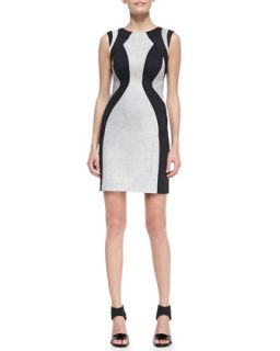 Womens Ludovica Stingray Printed Dress   Valentina Shah   Nero (10)