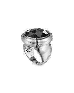 Batu Bamboo Silver Hematite Ring   John Hardy   Black (7)