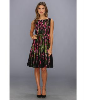 Adrianna Papell Fractured Floral Dress Womens Dress (Red)