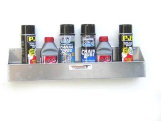 Aluminum 6 Mount Aerosal Shelf Holder Storage Shop Cabinet Race Car Enclosed Trailer: Automotive
