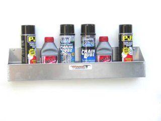 Aluminum 6 Mount Aerosal Shelf Holder Storage Shop Cabinet Race Car Enclosed Trailer: Automotive
