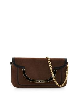 Greta Suede Shoulder Bag, Bark   Elaine Turner